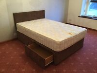 Double divan bed with mattress immaculate condition