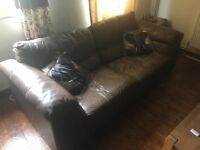 Three seater leather sofa for free