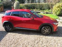 Mazda CX-3. Sports Nav. Manual. Soul Red metallic. 12600 miles. Immaculate condition throughout.