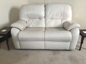 G plan 2 seater Mistral Capri Cream Leather Sofa