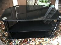 Glass TV and media unit