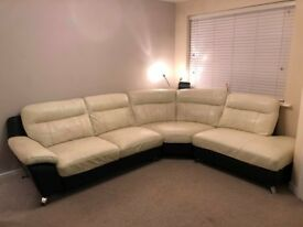 corner sofa with matching arm chair leather