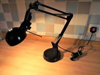 Desk / Office Lamp - Black Retro Spring Cantilever style - Excellent condition