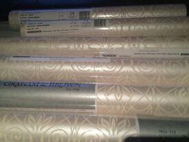 Graham and Brown wallpaper mystical - cream shimmer 6 rolls
