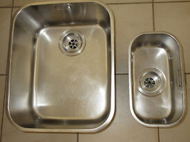 Franke under worktop sink units ARX 110-35 and ARX 110-17. Will make good 1-1/2 bowl assembly