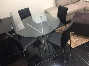 5PCS GLASS DINING ROOM SET $299 LOWEST PRICE GUARANTEED
