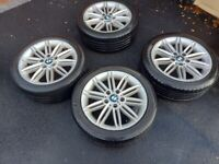 BMW 1 or 3 SERIES 17 INCH M SPORT ALLOYS ALLOY WHEELS STAGGERED GENUINE