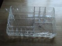 desk tidy(brand new) in clear perspex