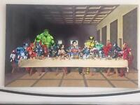 Marvel canvas limited edition SIGNED