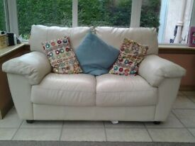2 Seater Leather Sofa In Cream leather ( NO TEXTS PLEASE)