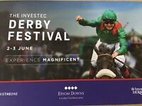 EPSOM DERBY BARGAIN GRANDSTAND TICKETS DISCOUNTED BY £12.50