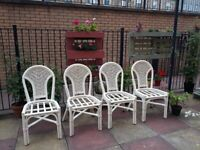 (pending collection)Set of Bamboo Garden Patio Chairs Rattan Outdoor or indoor furniture