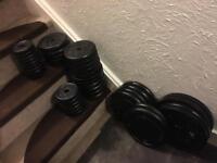 295lbs(132,5kgs) standard cast iron weights