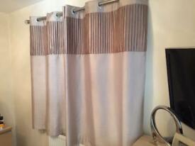 Pair of gold curtains