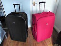 2 large suitcases. Maximum aircraft size
