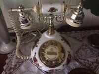 Telephone. Wedgwood, Royal Albert Bone China. (Working)