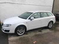Seat exeo tdi estate , candy white + black leather, stunning car