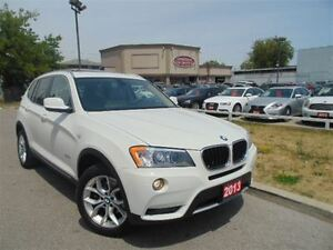 2013 BMW X3 DUAL DVD, PANORAMIC SUNROOF, EXTRA CLEAN