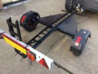 Motorcycle trailer with inbuilt ramp for single Motorbike