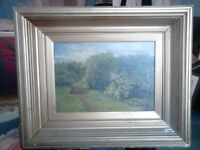 Victoria Oil Painting on Canvas in wood and Gesso frame