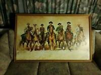 Signed renarto casaro framed print of the magnificent seven