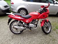 Kymco pulsar lx 125 in red with 12months mot
