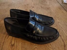 Black Leather Loafers, UK Size8, £15