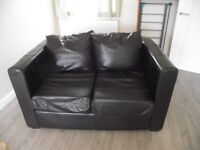 FREE Black leather bed settee (could re-use the leather to e.g. make bags)