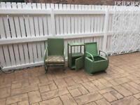 Wicker chair bedroom set