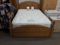 Light Wood Pine Bed and Dorlux Mattress