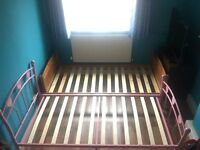 Two Single beds and Blue wardrobe - Very Good condition
