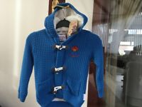New Paddington Bear jacket age 2/3years new with M&S label attached blue with furry lining new con.