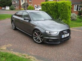 Bargain Audi A4 Quattro Black Edition 2015 Nav Clean Saloon, (190) Leather, B&O, 12k, Mint Condition