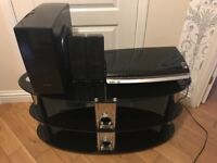 Samsung DVD Player with Speakers and TV Stand
