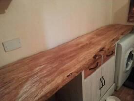 "Hardwood kitchen/desk top 88"""