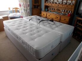 king size bed. separates into two singles. electric head and foot.4 draws. £1.500 ono