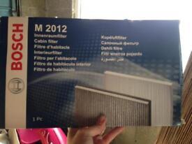 M 2012 Bosch cabin filter new