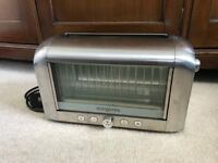 Like New Magimix 2 Slot Vision Toaster 11526 Brushed Finish £160 RRP