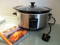 Morphy Richards Slow Cooker Model 487098 Used a few times as new plus cookbook