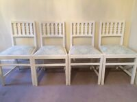 4x Shabby Chic Dining Chairs: £79