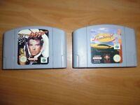 N64 Goldeneye & Lamborghini Games