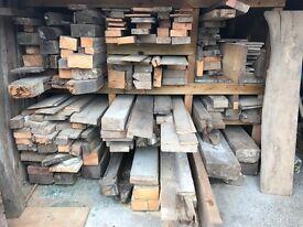 Various Reclaimed Pine Timber Joists Oak Newels Elm Cladding
