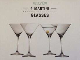 PARTY TIME! 16 MARTINI GLASSES FROM M&S