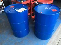 Steel Oil BBQ drums, garden burner barrel 205 litre 44 gallon regular supply