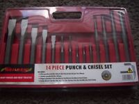 BRAND NEW 14 PCE PUNCH AND CHISEL SET
