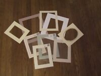 Job lot of card mounts for cross stitch/ photos / pictures x9