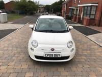 Fiat 500. 1.2 petrol reg 2009 miles 15,000