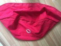 Bugaboo hood cover in red