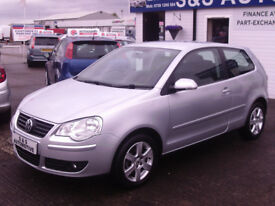 VW POLO MATCH 1198cc 3 DOOR *LOW MILEAGE* M.O.T/WARRANTY (FINANCE AVAILABLE)