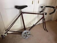 Steel bike frame